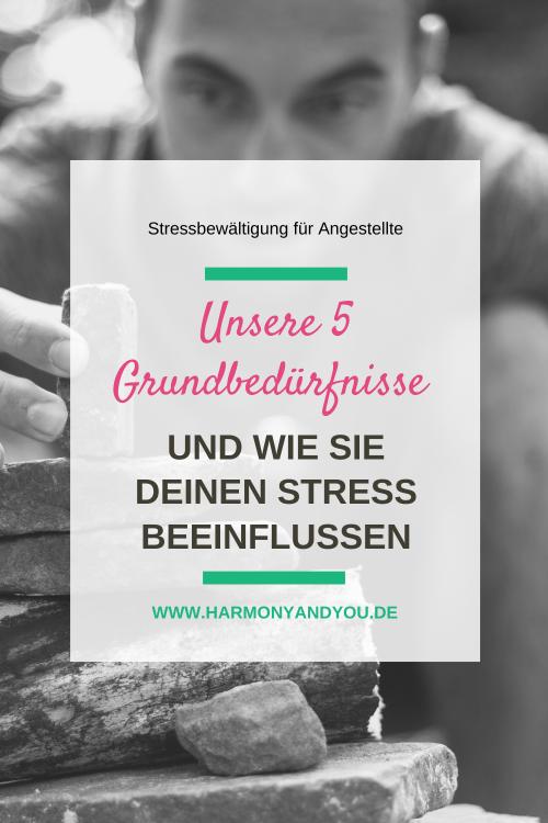 Die 5 Grundbedürfnisse des Menschen und ihr Einfluss auf deinen Stress